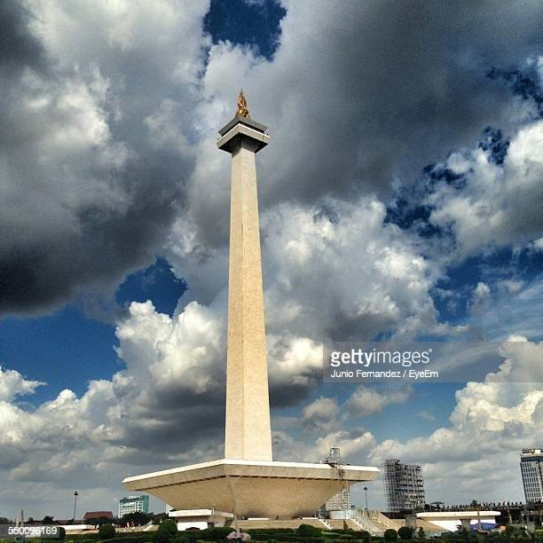 Low Angle View Of National Monument Against Cloudy Sky