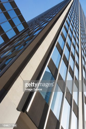 Low Angle View Of Modern Office Buildings Photo: Low Angle View Of Office Building Stock Photo