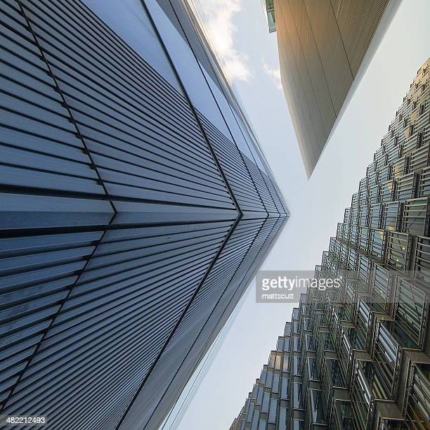 Low angle view of office buildings, London, England, UK