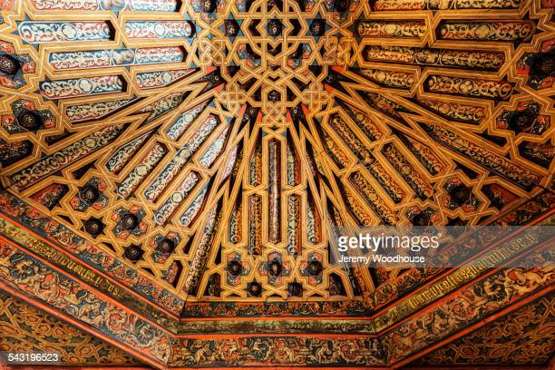 Low angle view of ornate dome ceiling