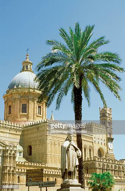 Low angle view of Palermo Cathedral, Sicily, Italy
