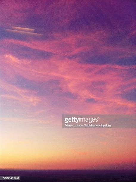 Low Angle View Of Pink Sky