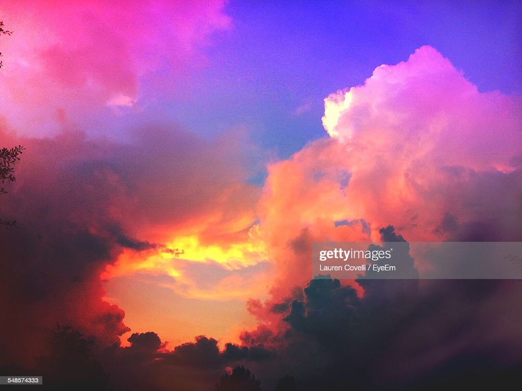 Low Angle View Of Romantic Sky