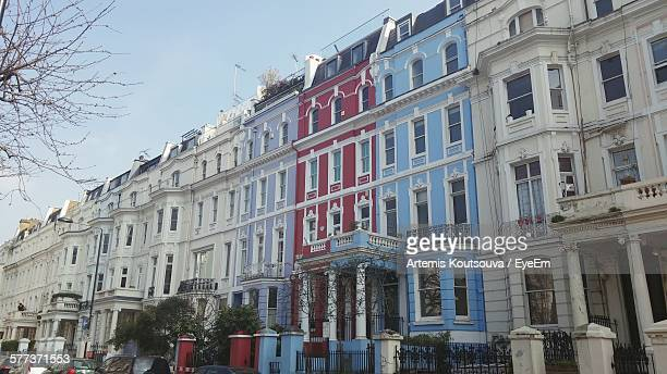 Low Angle View Of Row Houses At Notting Hill