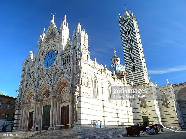 Low Angle View Of Siena Cathedral Against Sky