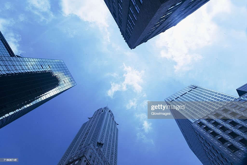 Low angle view of skyscrapers : Stock Photo