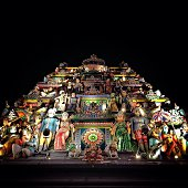 Low Angle View Of Sri Mariamman Temple At Night