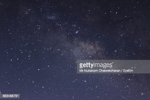 Low Angle View Of Stars On Dark Sky