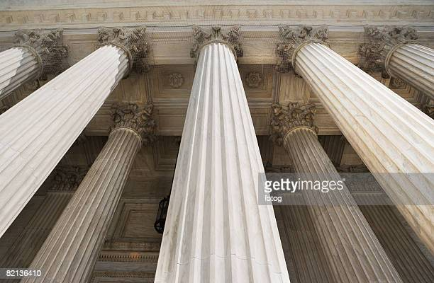 Low angle view of stone columns