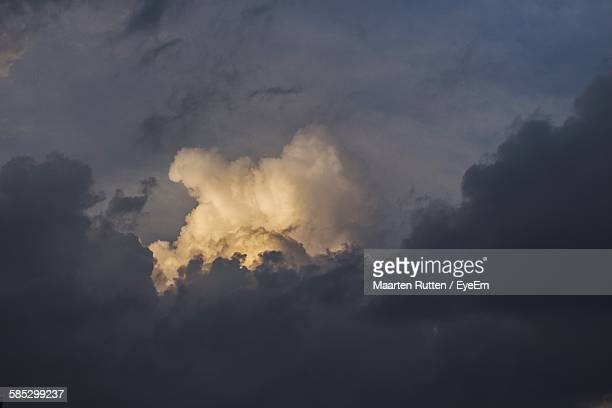 Low Angle View Of Storm Clouds During Sunset