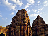 Low Angle View Of Temple Against Cloudy Sky At Pattadakal