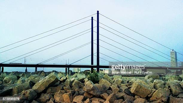 Low Angle View Of Theodor Heuss Bridge Against Sky