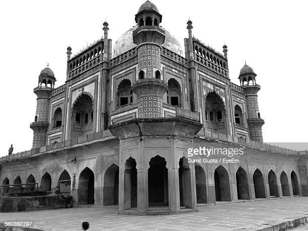 Low Angle View Of Tomb Of Safdarjung Against Clear Sky