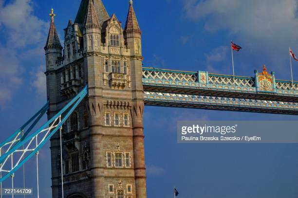 Low Angle View Of Tower Bridge Against Clear Sky