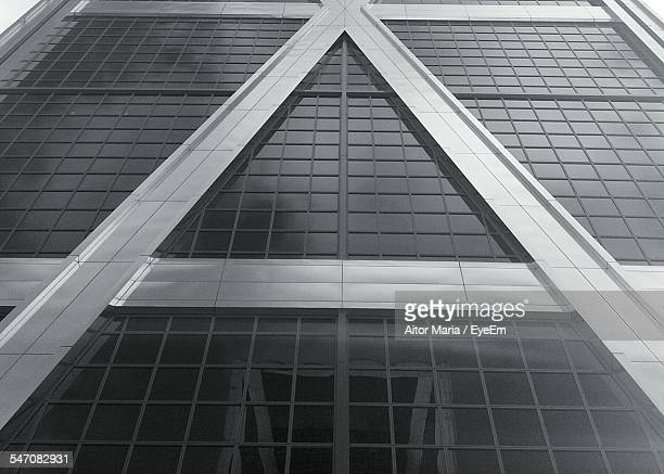 Low Angle View Of Triangle Shape On Building