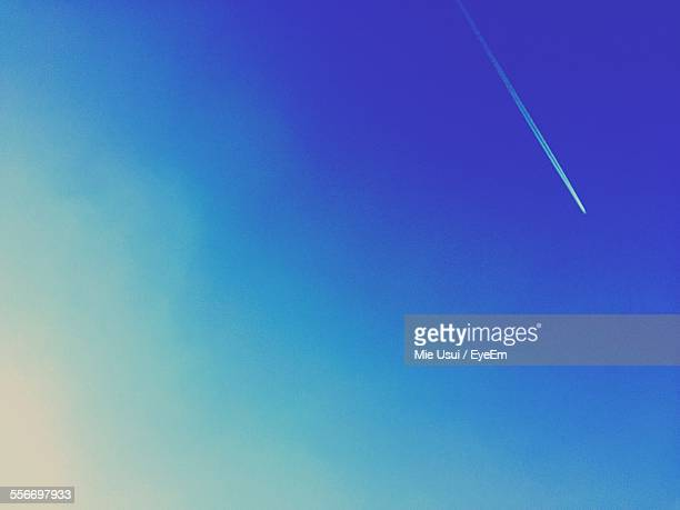 Low Angle View Of Vapor Trail