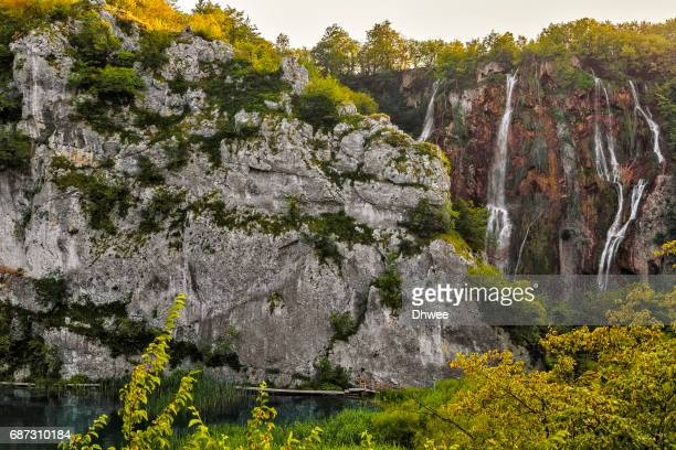 Low Angle View Of Veliki Slap Waterfalls, Plitvice National Park