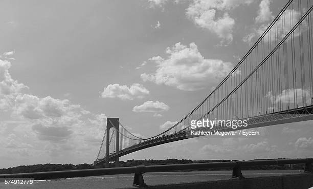 Low Angle View Of Verrazano-Narrows Bridge Against Sky