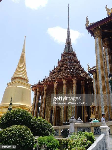 Low Angle View Of Wat Phra Kaew Against Sky
