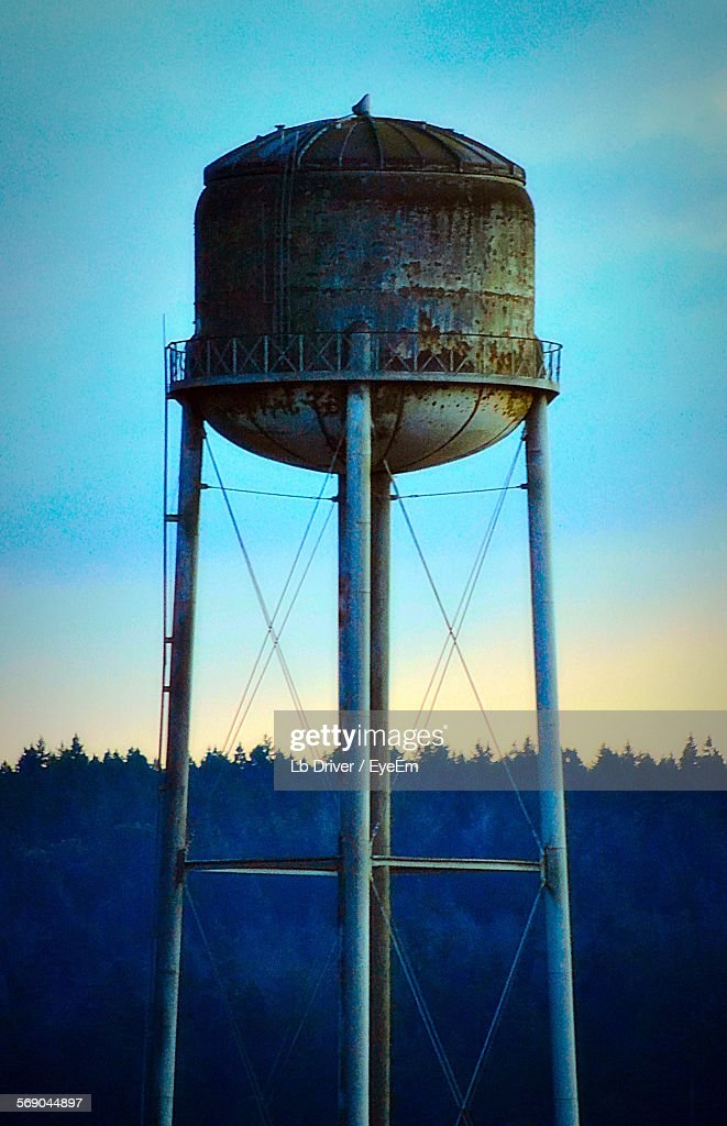 Low Angle View Of Water Tank Against Clear Sky