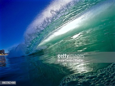 Low Angle View Of Waves At Sea