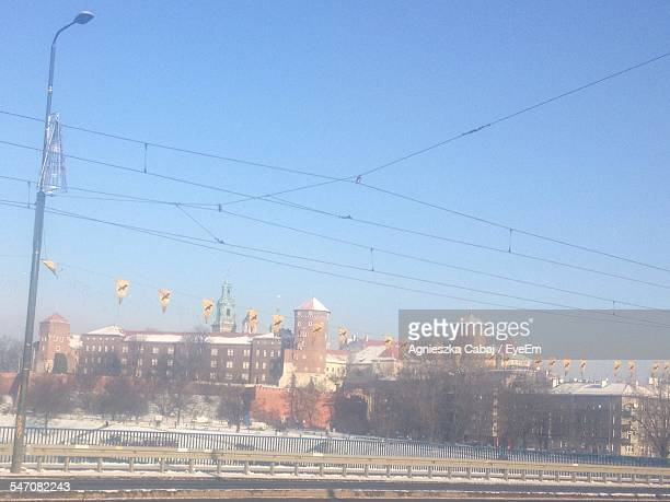 Low Angle View Of Wawel Against Blue Sky
