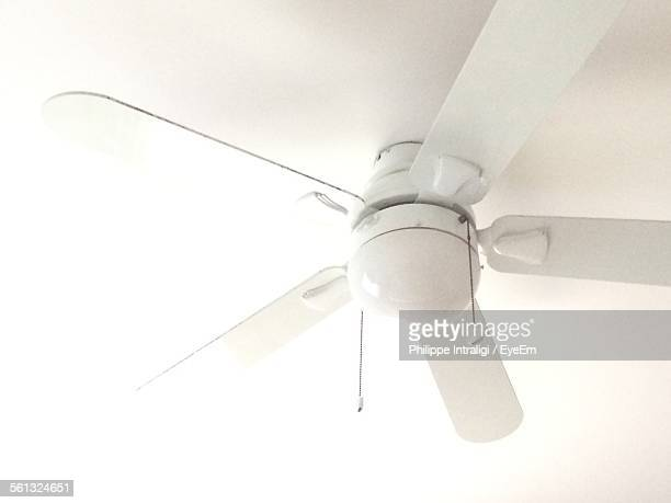 Low Angle View Of White Electric Fans