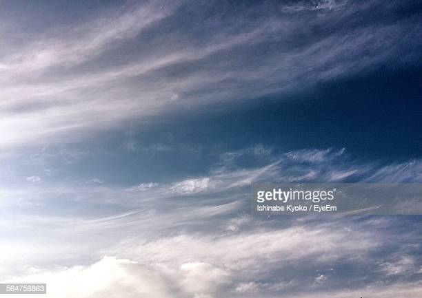Low Angle View Of Wispy Clouds During Day