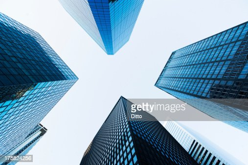 Low angled view of skyscrapers