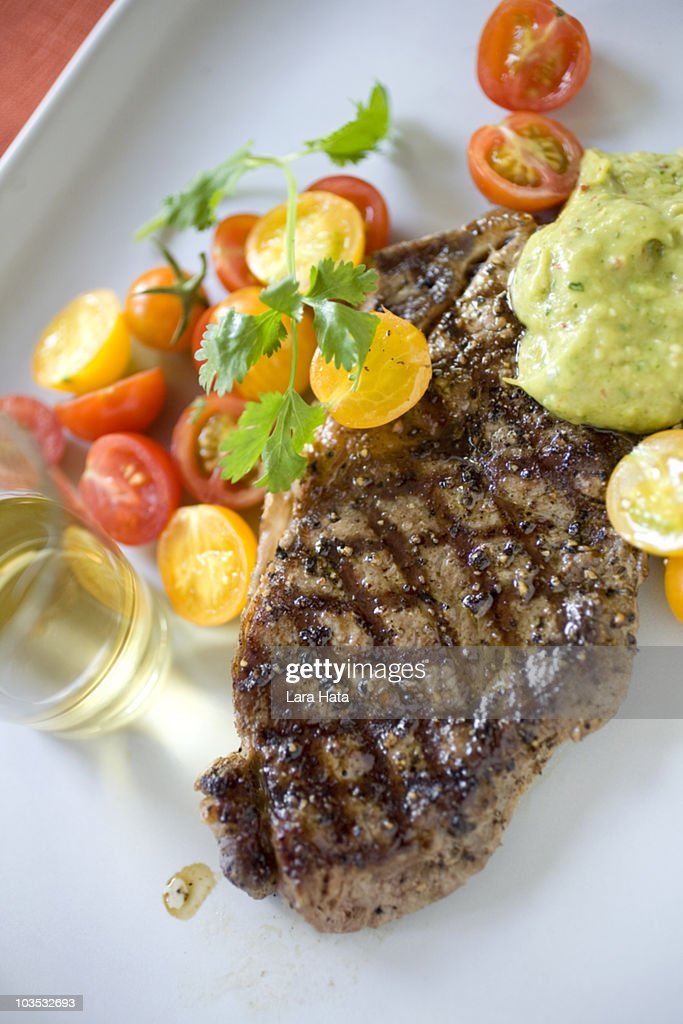 Low carb steak dinner
