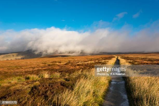 Low cloud over Bleaklow, Pennine Way, Derbyshire