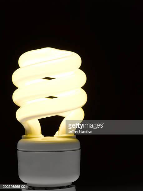 Low energy, environmentally friendly lightbulb, close-up (still life)