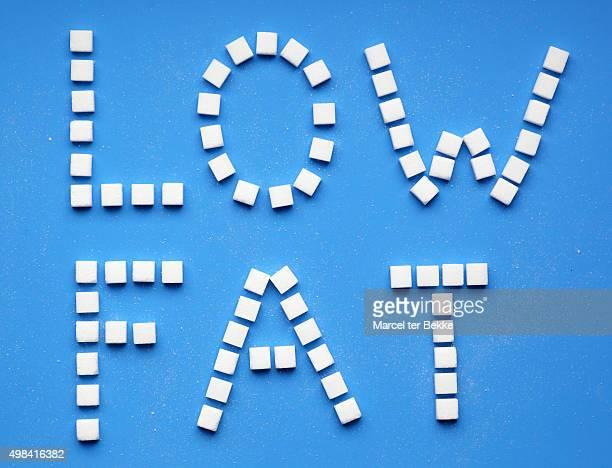 Low fat sugarcubes