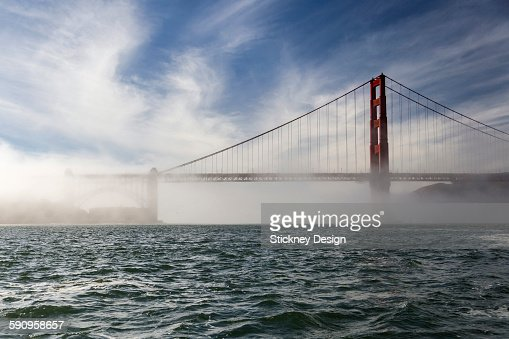 Low fog golden Gate San Francisco