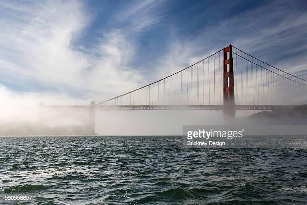Low fog golden Gate San Francisco