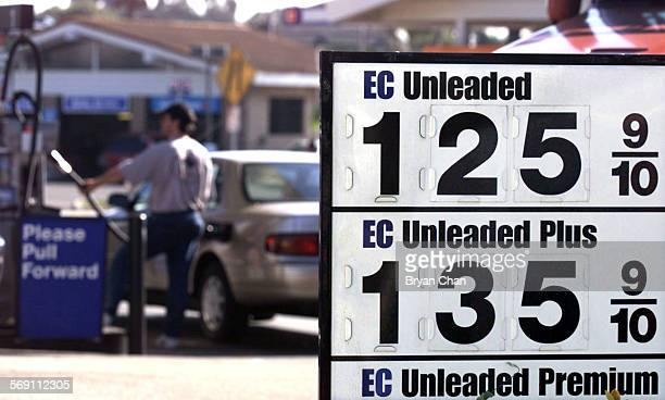 Low gas prices are evident at this ARCO station in Ventura Unleaded sells for 125/gallon DIGITAL IMAGE SHOT