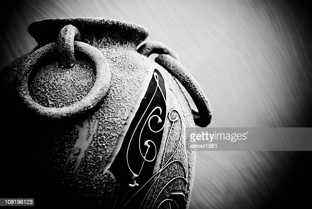 Low Key Portrait of Old Vase with Handles
