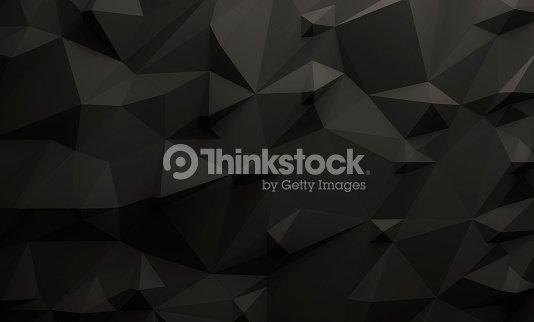 Low poly black background : Foto de stock