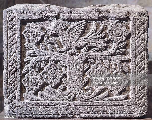 Low relief showing a figure of owl artifact originating from Mexico Aztec Civilization 15th Century Mexico City Museo Nacional De Antropología