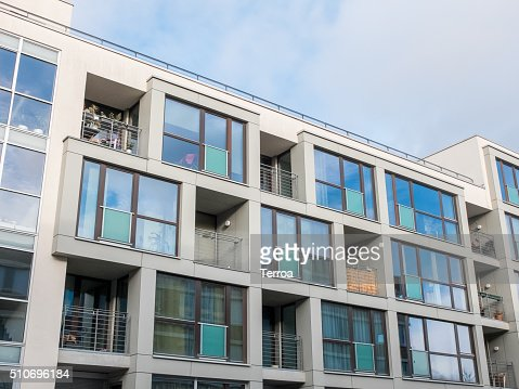 Low Rise Apartment Building with Balconies : Stock Photo