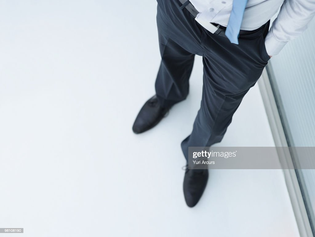 Low section image of a business man standing