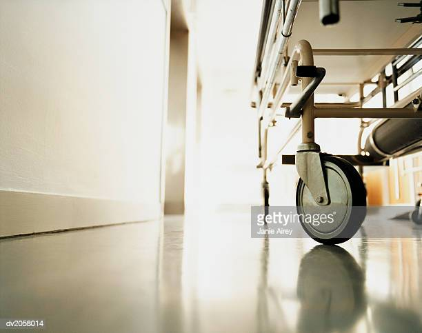 Low Section of a Trolley in a Hospital Corridor