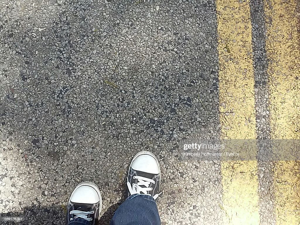 Low Section Of Person On Street