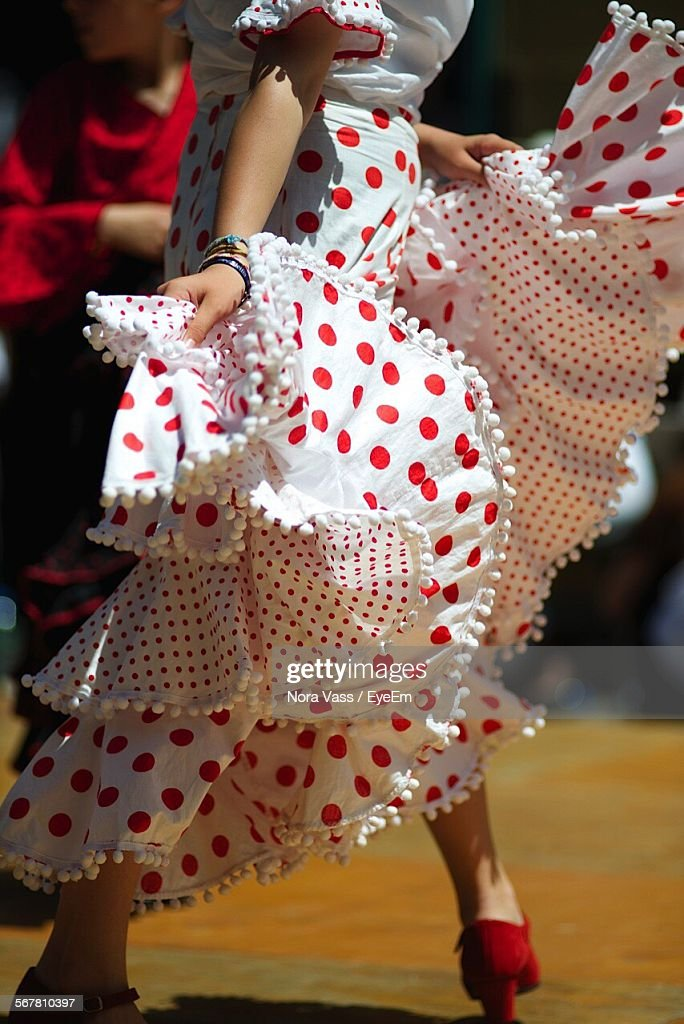 Low Section Of Woman Performing Flamenco