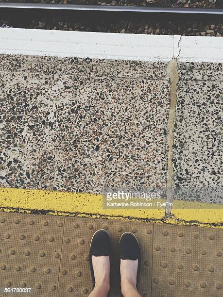 Low Section Of Woman Standing At Anerley Railway Station