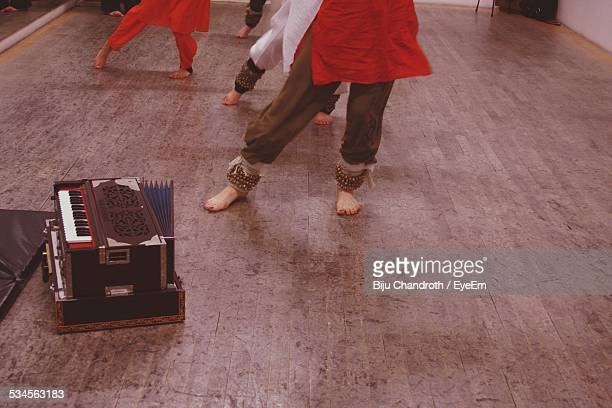 Low Section Of Women Practicing Kathak