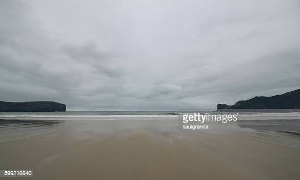 Low tide in a cloudy day of summer