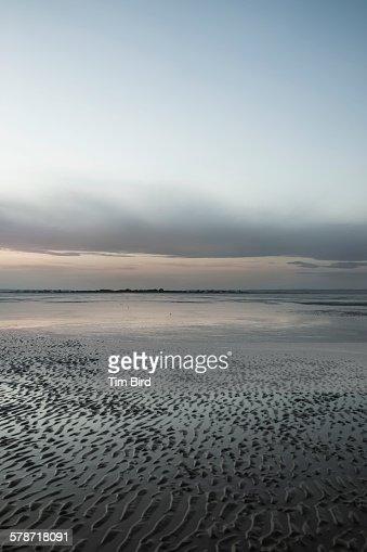 Low tide in Dymchurch UK