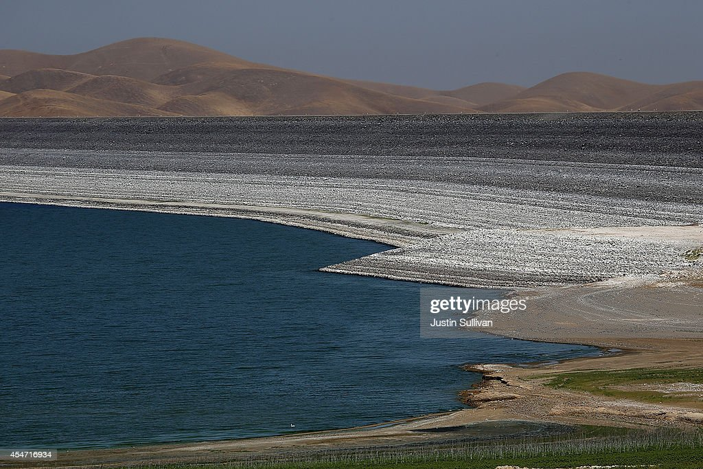 Low water levels are visible at the San Luis Reservoir on September 5 2014 in Gustine California As California suffers through a third straight year...