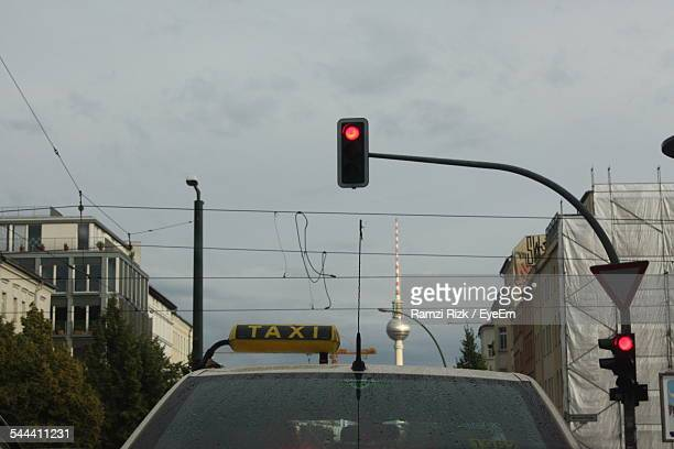 Low-Angle View Of Red Light
